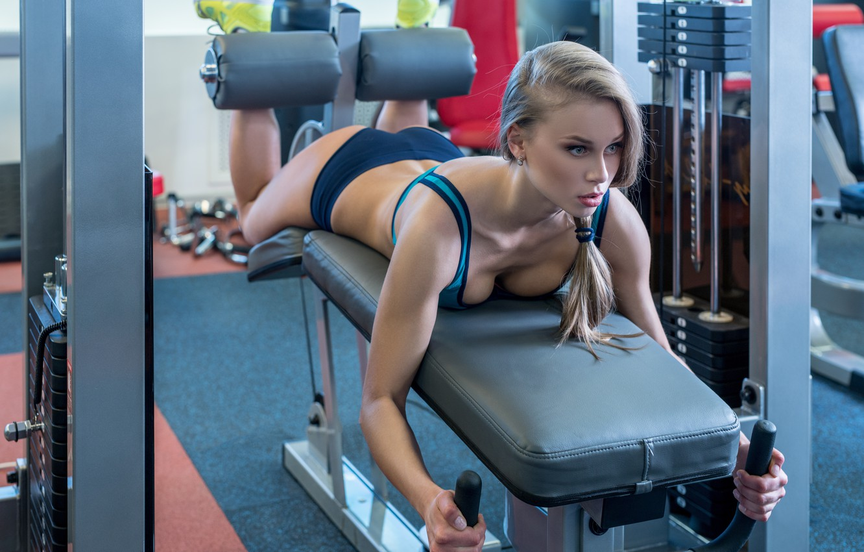 Photo wallpaper legs, blonde, workout, gym