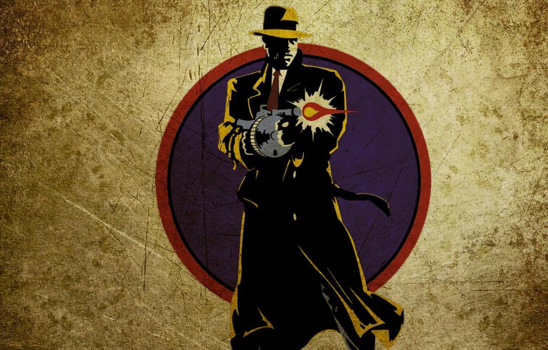 Photo wallpaper hat, machine, cloak, Dick Tracy, Dick Tracy