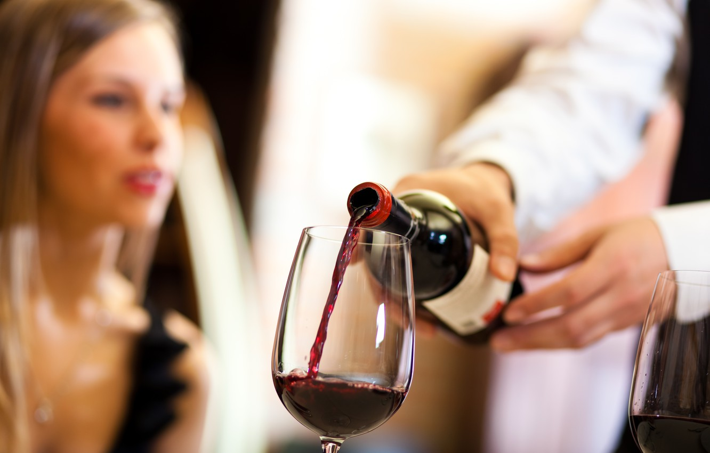 Photo wallpaper wine, elegant, handsome, restaurant, wine glass