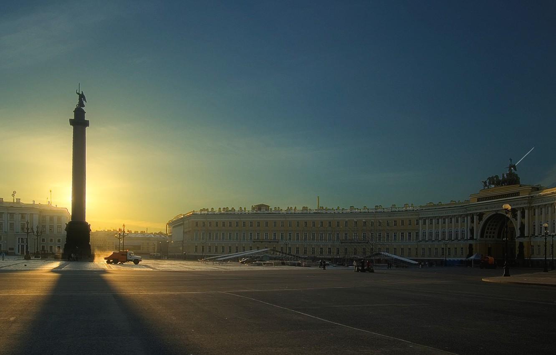 Photo wallpaper Peter, area, Saint Petersburg, Palace