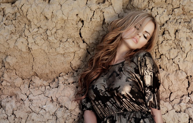 Photo wallpaper wall, dress, Karina Serna