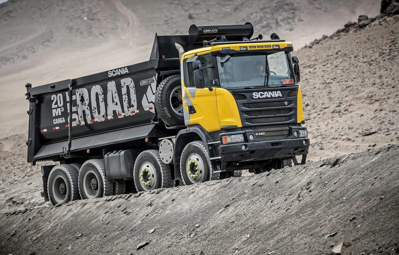 Photo wallpaper truck, Scania, Scania, 2013, dump truck, machinery, 8×4, G440