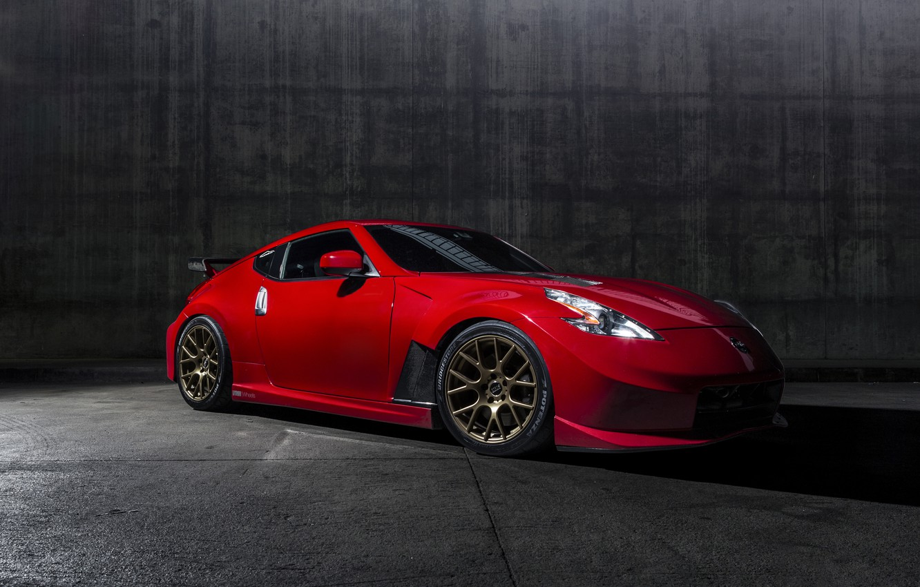 Photo wallpaper car, tuning, Nismo, Nissan 370Z, Solid Red