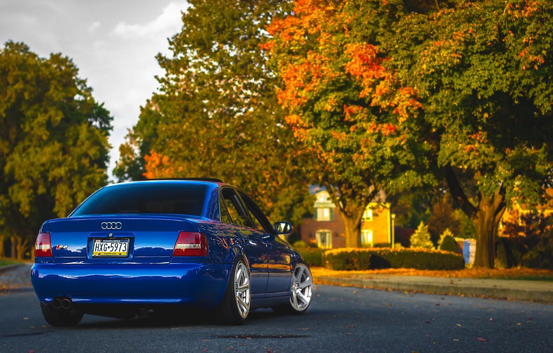 Photo wallpaper Audi, Audi, blue, blue