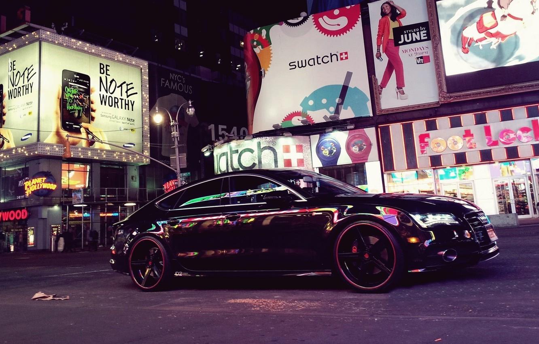 Photo wallpaper machine, auto, the city, street, Audi A7