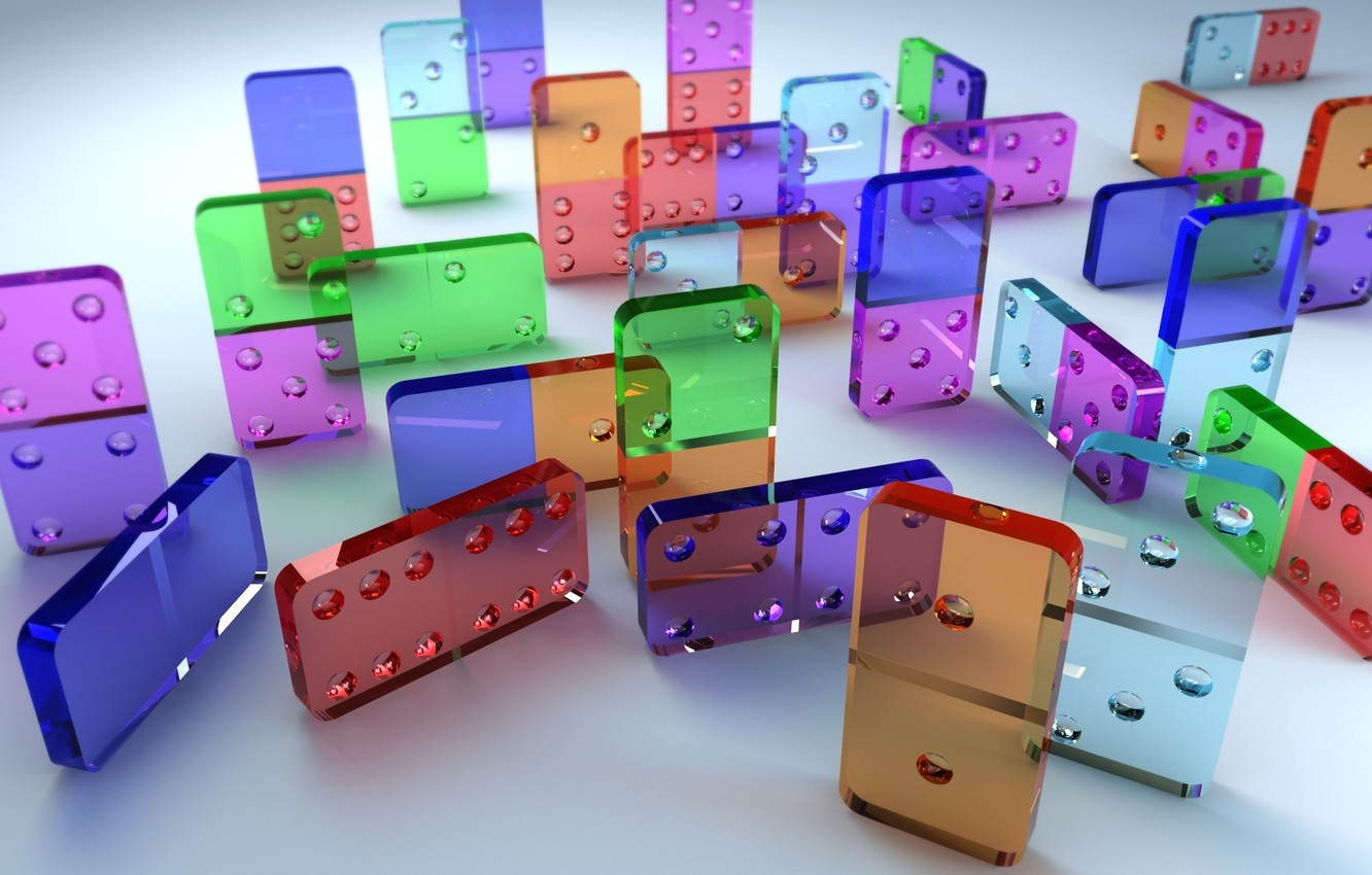 Photo wallpaper glass, Wallpaper, the game, plastic, Domino, knuckle