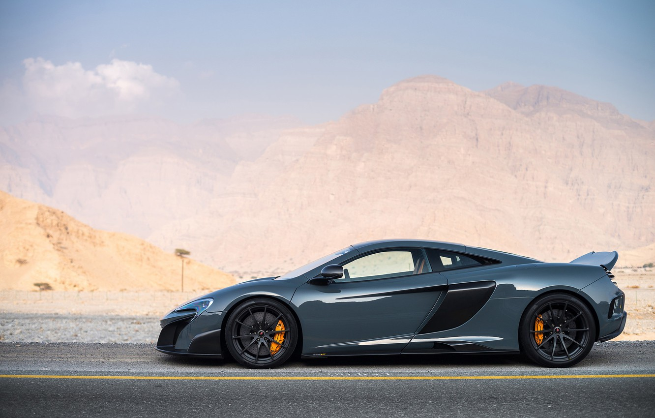 Photo wallpaper road, mountains, supercar, sports car, McLaren 675LT