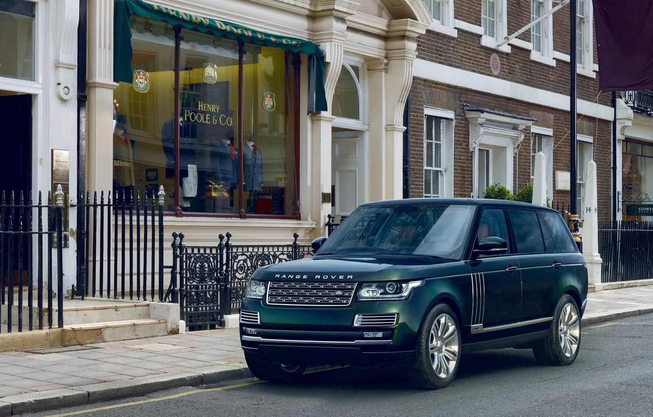Photo wallpaper background, green, Land Rover, Range Rover, the front, Land Rover, Range Rover, Holland & Holland