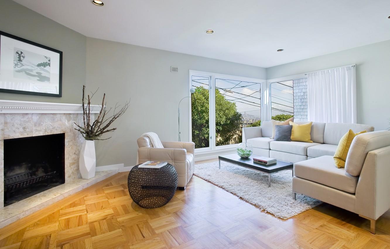 Photo wallpaper design, style, fireplace, living space, Las Vehas. interior