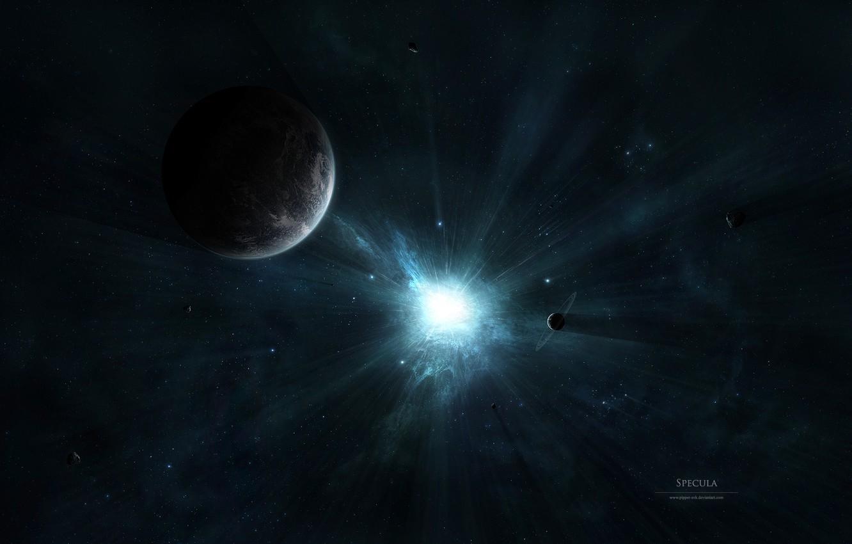 Photo wallpaper space, light, space, lights, the universe, star, planet, brightness, deviantart