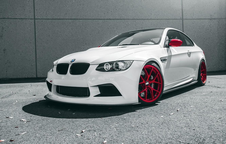 Photo wallpaper car, auto, white, BMW, the front, Boomer, bmw m3, rechange