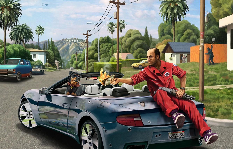 Wallpaper Grand Theft Auto V, GTA 5, Trevor, Trevor Phillips