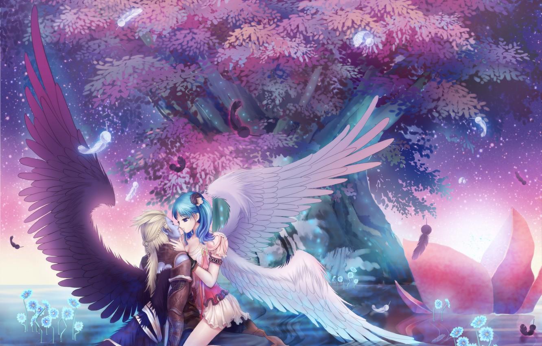 Photo wallpaper Love, Anime, Fantasy