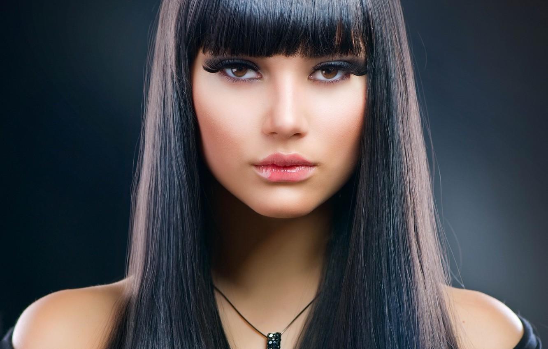 Photo wallpaper sexy, model, brunette, look, makeup