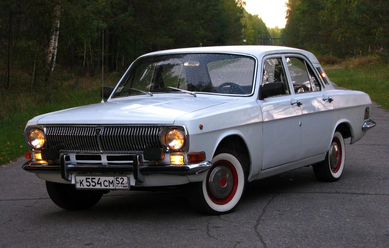 Photo wallpaper road, retro, background, Wallpaper, USSR, Volga, Volga, Gas 24