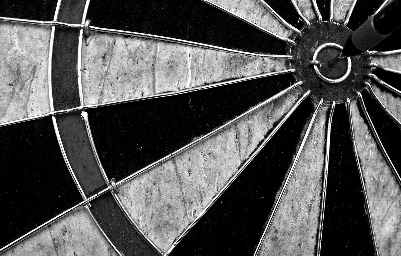 Photo wallpaper black and white, Darts, dart