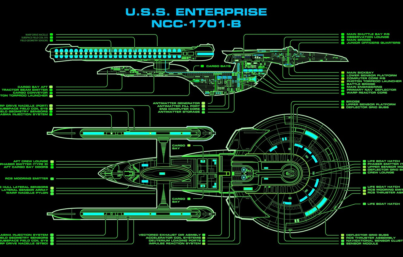 Wallpaper Drawing Starship Nc 1701 B U S S Enterprise Star