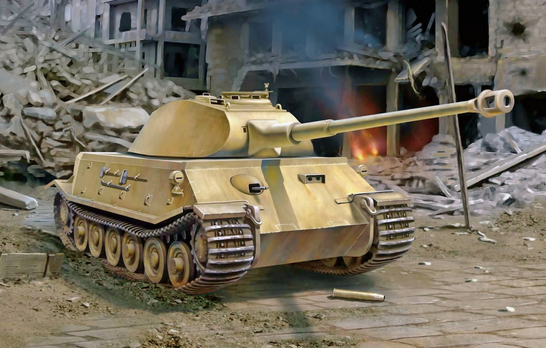 Wallpaper war, art, german, tank, ww2, project, VK  45 02 (P)V