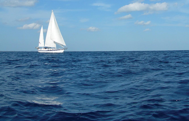 Photo wallpaper sea, the sky, sailboat, yacht