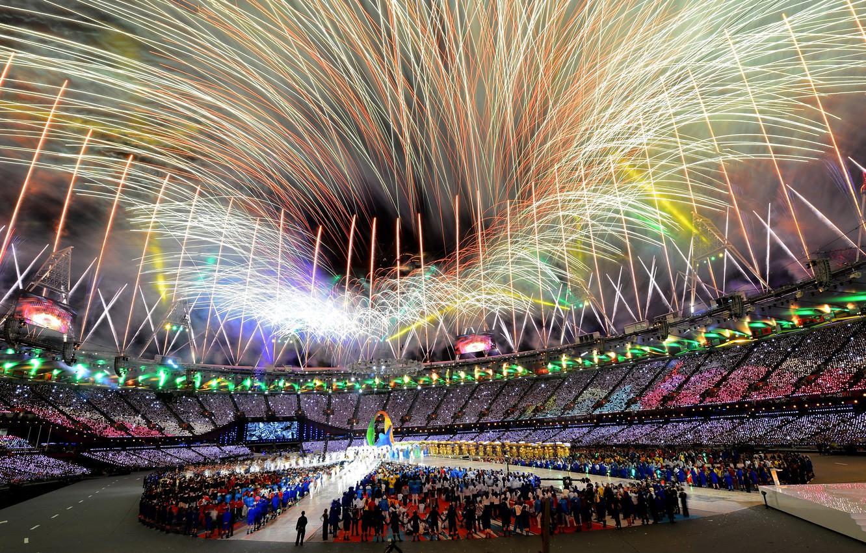 Photo wallpaper London, salute, Olympics, 2012, stadium, London, closure