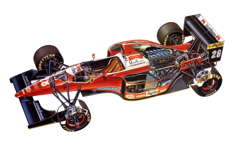 Photo wallpaper background, motor, 1993, Ferrari F93A