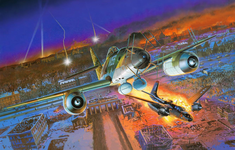 Photo wallpaper figure, battle, art, Me - 262A - 1a