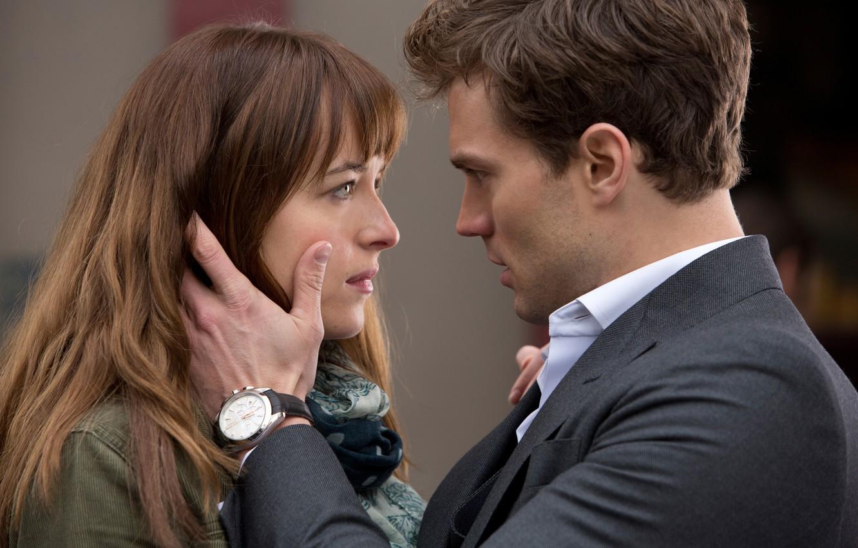 Photo wallpaper Dakota Johnson, Jamie Dornan, Fifty shades of grey, Fifty Shades of Grey, Christian Grey, Anastasia …