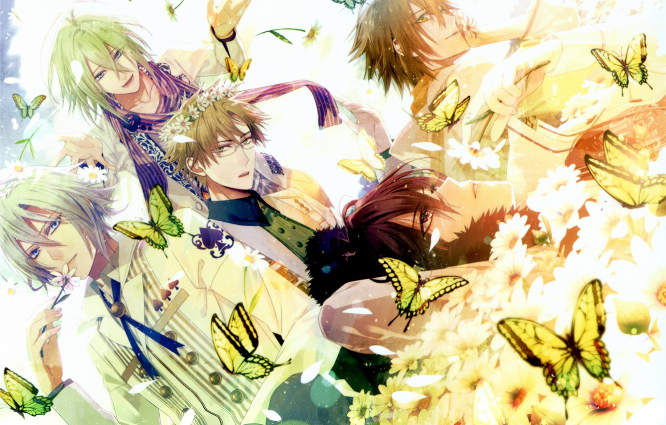 Wallpaper Butterfly Flowers Anime Guys Anime Amnesia Amnesia Anime Guys Images For Desktop Section Prochee Download