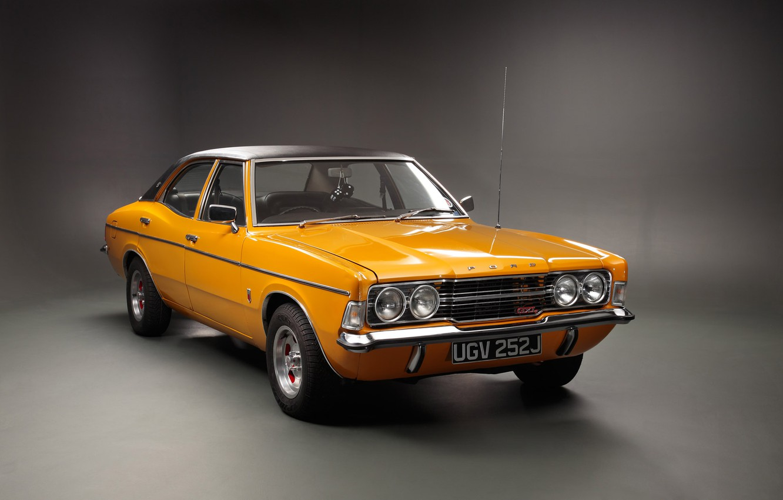 Photo wallpaper yellow, retro, Ford