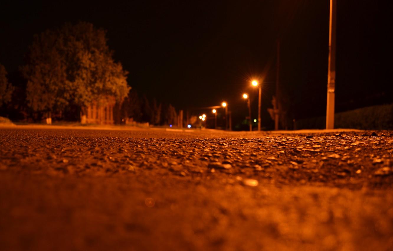 Photo wallpaper night, street, lights