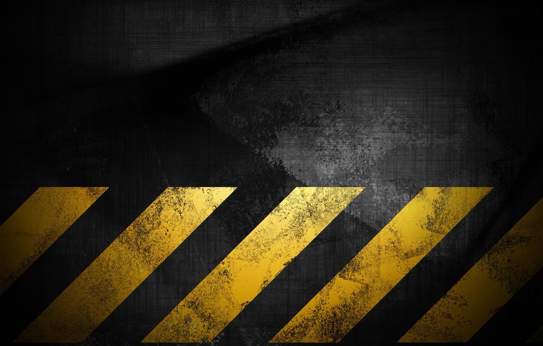 Photo wallpaper texture, background, grunge, grunge, the dark background, danger, yellow stripes, fading