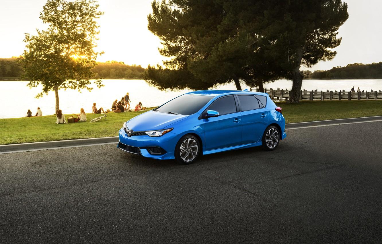 Photo wallpaper Blue, Toyota, Car, Corolla, 2017, Metallic