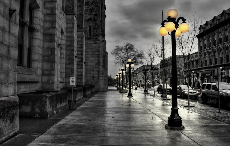 Photo wallpaper light, street, lantern