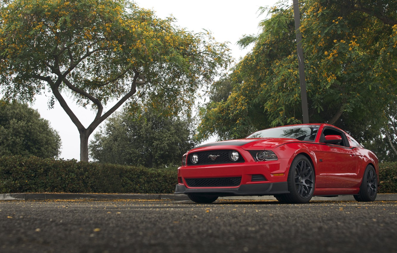 Photo wallpaper Mustang, Ford, RTR, Parking, 2013