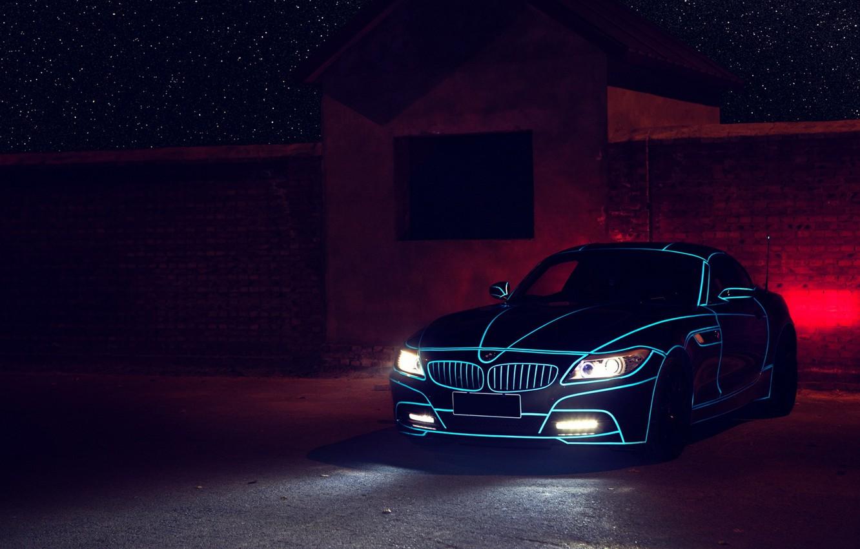 Photo wallpaper BMW, Tron