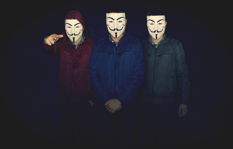 Wallpaper Dark Blue Men V For Vendetta Mask Friends