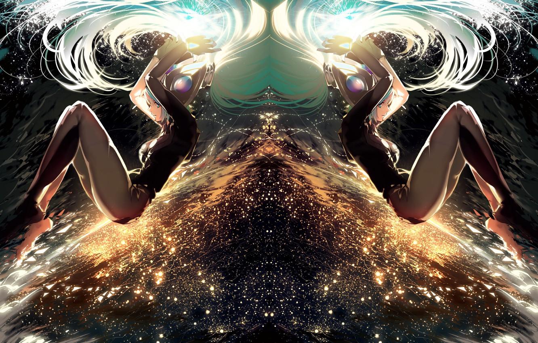 Photo wallpaper the sky, girl, lights, anime, art, league of legends, sona, ajahweea