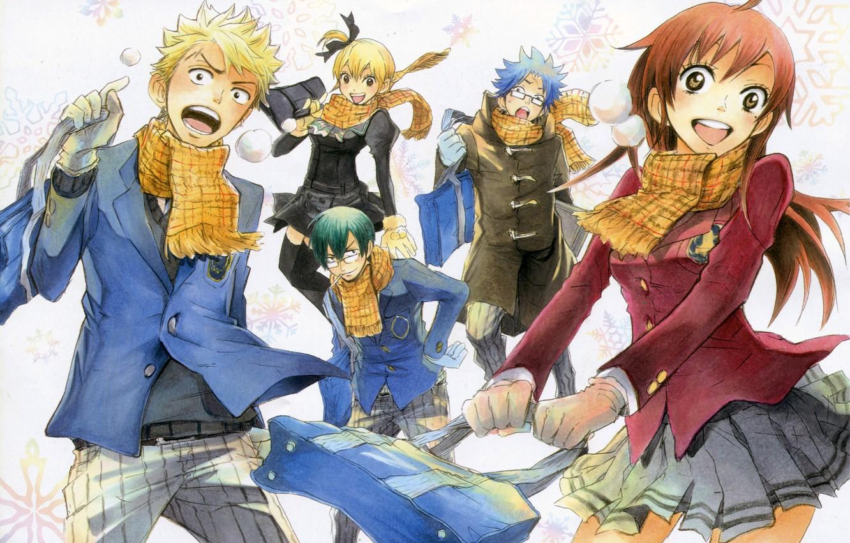 Photo wallpaper Manga, Author: Yoshikawa Miki., Bully and bespectacled, Yankee-kun to Megane-chan