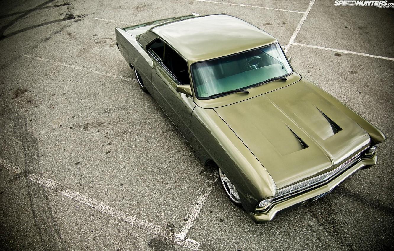 Photo wallpaper Chevy, 1966, Nova, built by Killer Customs, Pro Touring style