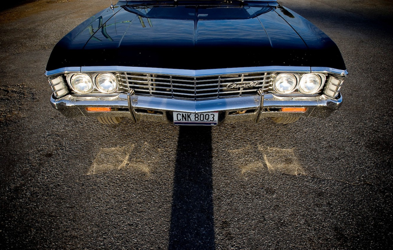 Photo wallpaper Chevrolet, Supernatural, Supernatural, Chevy, Sam, Dean, Impala, Impala, Chevrolet, Chevy, Impala 1967