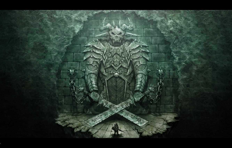 Photo wallpaper gate, the demon, warrior, photoshop, SNaKe