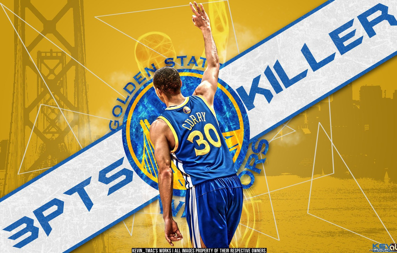 Photo wallpaper basketball, NBA, killer, Golden State Warriors, Stephen Curry