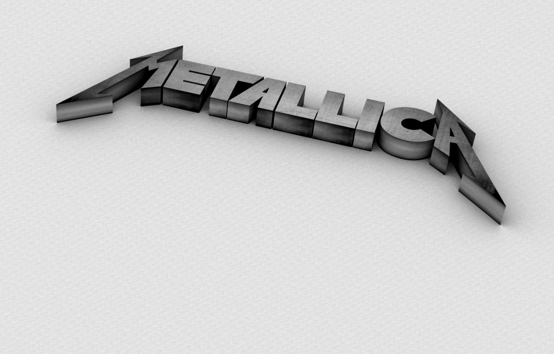Photo wallpaper logo, metallica