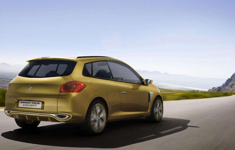 Photo wallpaper concept, Renault, Clio, Grand Tour