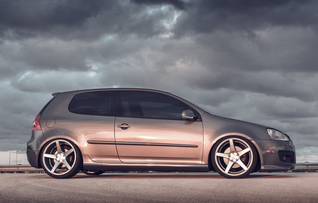 Photo wallpaper volkswagen, golf, gti, MK5