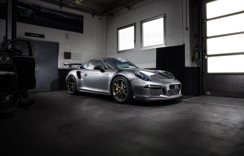 Photo wallpaper coupe, 911, Porsche, black, Porsche, Black, GT3, TechArt