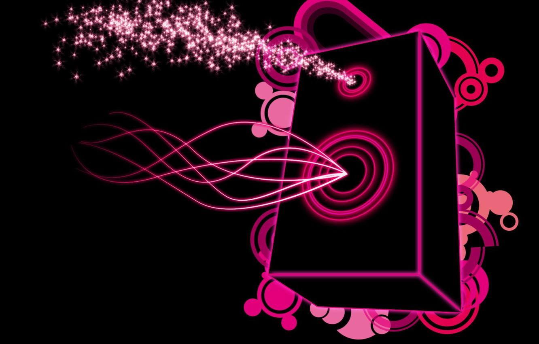 Photo wallpaper music, pink, Vector, column
