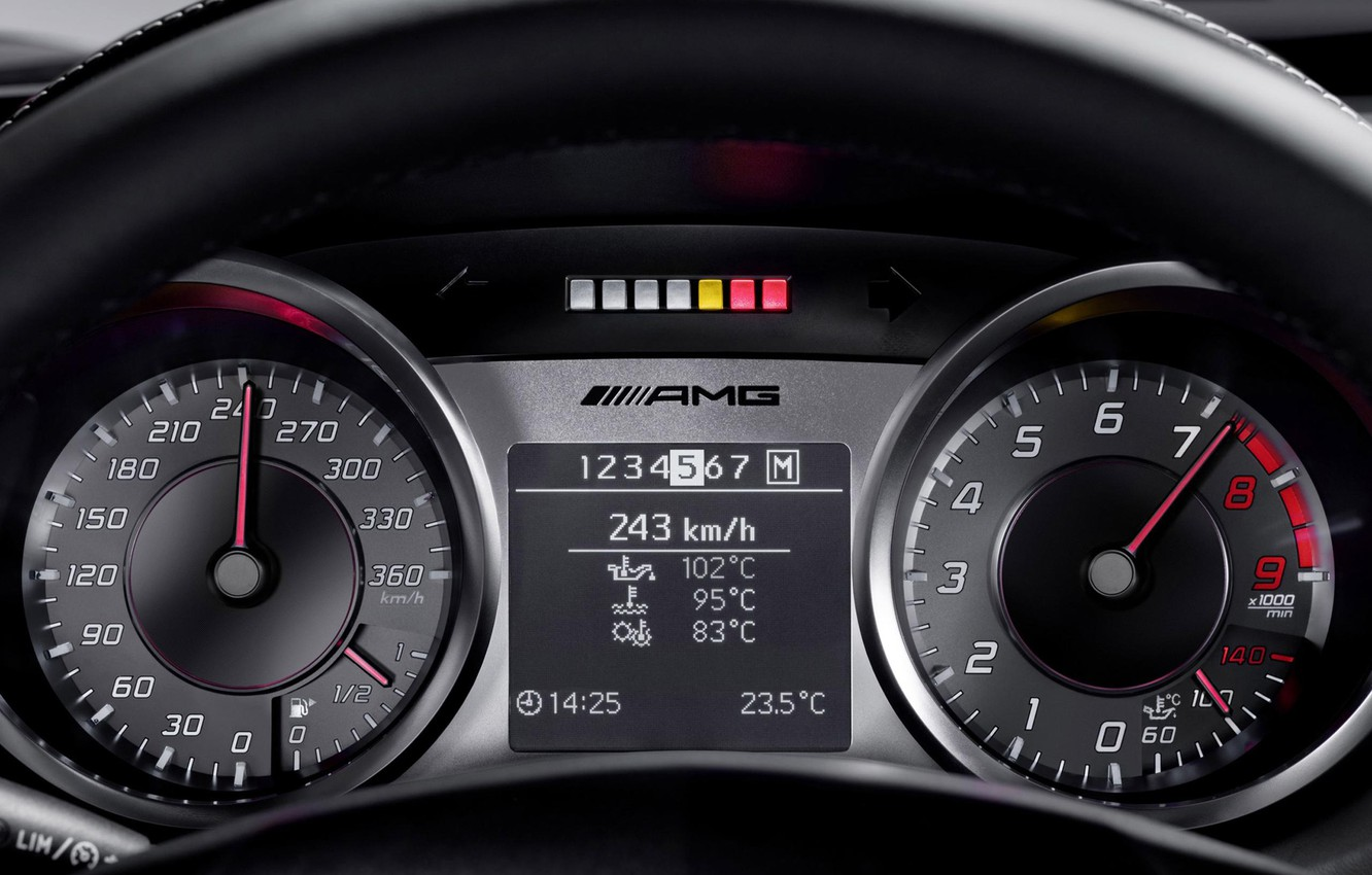 Photo wallpaper Arrows, Speedometer, Devices, Mercedes Benz, Tachometer