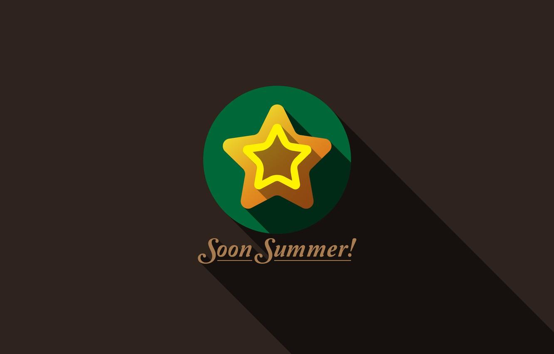 Wallpaper Vector Summer Hot Minimalism Design Modern
