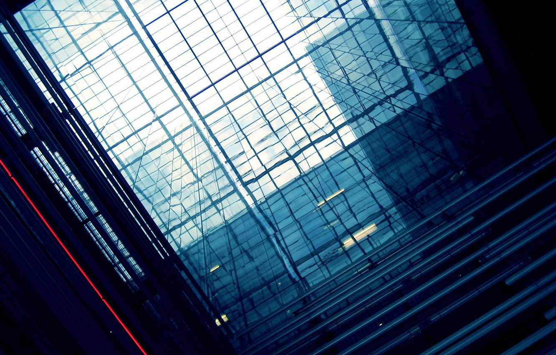 Photo wallpaper glass, light, reflection